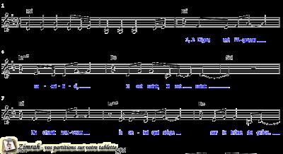 Zimrah partition : « Digne est l'Agneau, sacrifié » par Jennie Lee Riddle