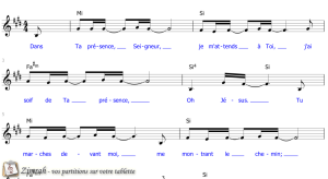 Zimrah partition : « Dans Ta présence » par Etienne Rochat, Lydia Rochat
