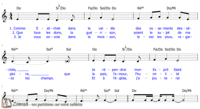 Zimrah partition : « Souffle des quatre vents » par Etienne Rochat