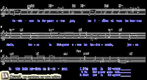 Zimrah partition : « Acclamez le Seigneur avec joie » par Sylvain Freymond