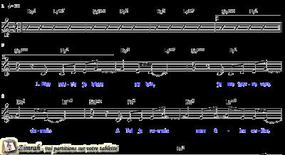 Zimrah partition : « Voici le jour » par Paul Baloche, Lincoln Brewster