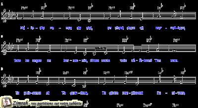 Zimrah partition : « Mélodie venue du ciel » par Marcel Boungou