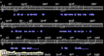 Zimrah partition : « Je dépose devant Toi » par Etienne Rochat