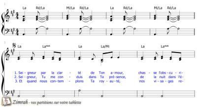 Zimrah partition : « Seigneur, par la clarté » par Graham Kendrick