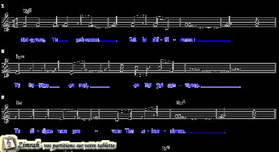 Zimrah partition : « Seigneur, Ta présence » par Sylvain Freymond, Rolf Schneider