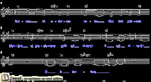Zimrah partition : « Louons et adorons » par Yannick Delessert