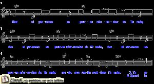 Zimrah partition : « Dans Ta main » par Thérèse Motte