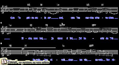 Zimrah partition : « Que Ta grâce coule sur moi » par Etienne Rochat