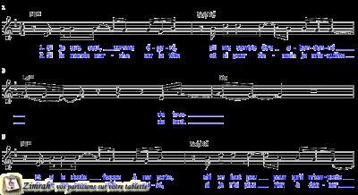 Zimrah partition : « Je lève les yeux » par Stéphane Unger, Rolf Schneider