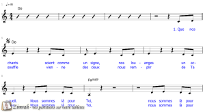 Zimrah partition : « Que nos chants soient comme un signe » par Tim Wanstall, Matt Redman, Matt Maher, Jesse Reeves