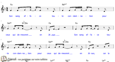Zimrah partition : « Son sang efface » par Charles Monroe