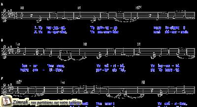 Zimrah partition : « Béni soit Ton nom » par Thomas Blanc