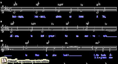 Zimrah partition : « Louange, honneur, gloire » par Sylvain Freymond