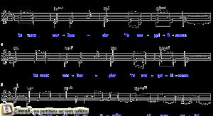 Zimrah partition : « Contempler Ta magnificence » par Rolf Schneider