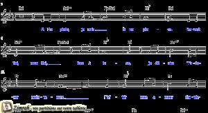 Zimrah partition : « A Tes pieds » par Rolf Schneider, Sylvain Freymond