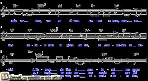 Zimrah partition : « Feu du réveil » par Rolf Schneider