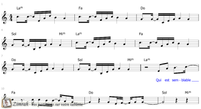 Zimrah partition : « Louez Adonaï » par Paul Baloche