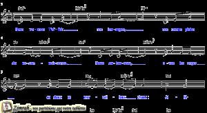 Zimrah partition : « Alléluia » par Pierre-Nicolas de Katow