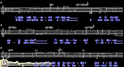 Zimrah partition : « Oui, je T'aime » par Sylvain Freymond