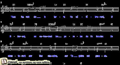 Zimrah partition : « Tous les rois de la terre » par Pat Berning