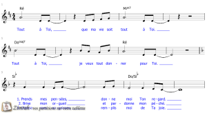 Zimrah partition : « Tout à Toi » par Sylvain Freymond