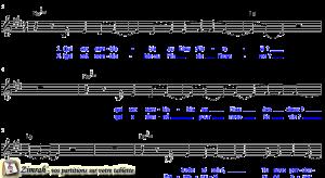 Zimrah partition : « Dieu Merveilleux » par Pierre-Nicolas de Katow