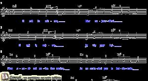 Zimrah partition : « Il est le même » par Rolf Schneider