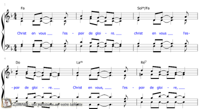 Zimrah partition : « Christ en vous » par Linda Panci-McGowen