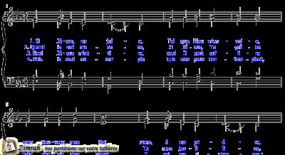 Zimrah partition : « O Jésus, ma joie » par Johann Crüger