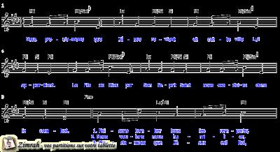 Zimrah partition : « Nous proclamons » par Etienne Rochat