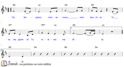 Zimrah partition : « Toi, Seigneur mon secours » par Don Thomas, Charles Williams