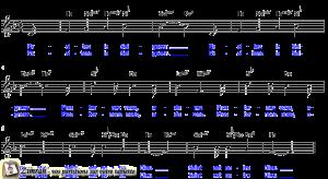Zimrah partition : « Exaltez le Seigneur » par Rick Ridings