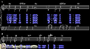 Zimrah partition : « Louange à l'Agneau » par Inconnu