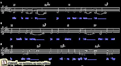 Zimrah partition : « Dès le matin » par Gérard Bryon