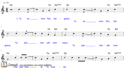 Zimrah partition : « Chant victorieux » par Joseph Vogels