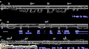 Zimrah partition : « Kyrie Eleison » par Mike Hudson, Bill Delveaux