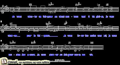 Zimrah partition : « Je veux chanter au Seigneur » par Danlel Bédo (book1} N°255)