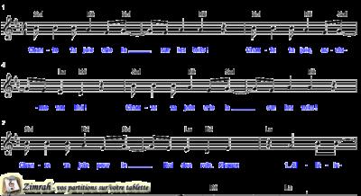 Zimrah partition : « Chante ta joie » par Frank Hernandez (book1} N°251)