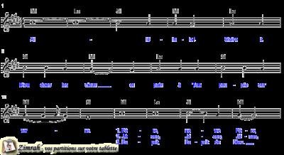 Zimrah partition : « Alléluia ! Gloire à Dieu » par Charles Christmas (book1} N°270)