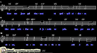 Zimrah partition : « Dans les jours qui viennent » par Alain Burnand (book1} N°154)