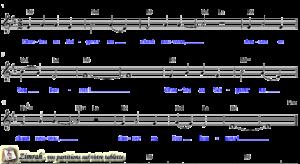 Zimrah partition : « Chantez au Seigneur » par Rolf Schneider (book1} N°225)