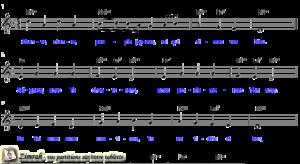 Zimrah partition : « Chante
