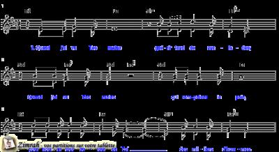Zimrah partition : « Quand j'ai vu Tes mains » par Philippe Chanson (book1} N°203)