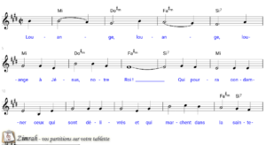 Zimrah partition : « Louange » par Inconnu (book1} N°229)
