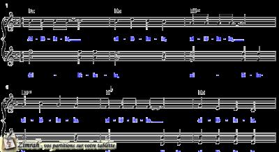 Zimrah partition : « Chantez au Seigneur » par Claude Fraysse