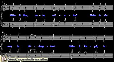 Zimrah partition : « Gloire à Dieu » par Melchior Vulpius (book1} N°67)