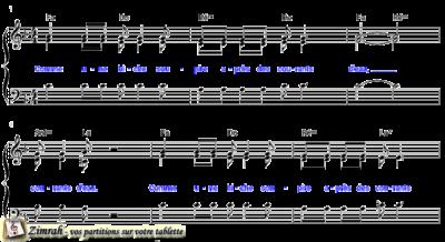 Zimrah partition : « Comme une biche » par John Van Den Hogen (book1} N°249)
