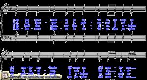 Zimrah partition : « En-tennons l'hymne de victoire » par F.-G. Clottu (book1} N°62)