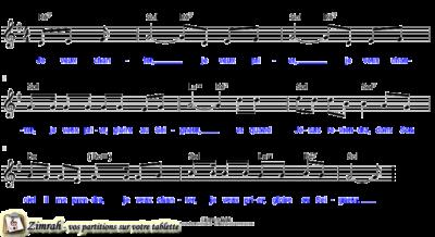 Zimrah partition : « Je veux chanter » par Inconnu (book1} N°121)
