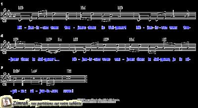 Zimrah partition : « Réjouissez vous toujours » par Pierre van Woerden (book1} N°46)